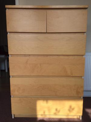 ikea malm chest of 6 drawers posot class. Black Bedroom Furniture Sets. Home Design Ideas