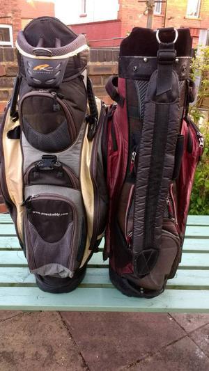 Powakaddy golf bags x 2.
