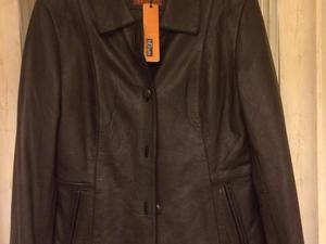 Brown leather jacket size 10