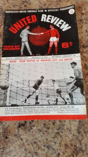 MANCHESTER UTD V NORWICH CITY F.A. CUP.(VOTED ON RADIO NORFOLK AS NORWICH GREATEST CUP WIN)