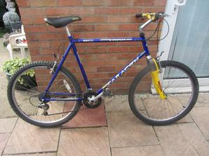 mens team saracen mountain bike 23inch frame with lock and lights £