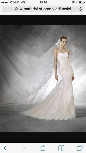 PRONOVIAS TASIEL WEDDING DRESS