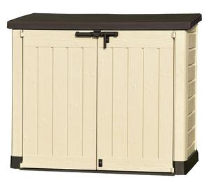 Keter plastic store it out garden storage box posot class for Storage huts for garden