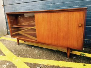 Gorgeous Mid Century Teak Glazed Bookcase/ Sideboard - Retro & Vintage