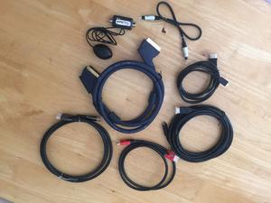 HDMI LEADS + SCART LEAD + OPTICAL CABLE +TV MAGIC EYE
