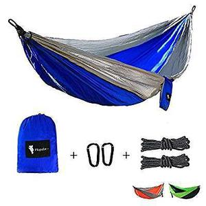 Hopaba Double Camping Hammock Set Swing Portable Lightweight Parachute