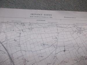 Four ordnance survey maps of Leicestershire