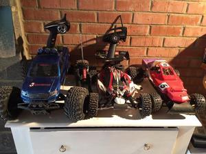 HPI Savage, HPI Buggy, Serpent Cobra including spare parts and electric starter