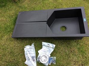 Black composite kitchen sink bnib