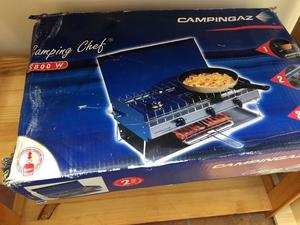 campingaz camping chef double burner and grill posot class. Black Bedroom Furniture Sets. Home Design Ideas