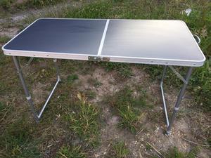 Folding aluminium camping picnic table