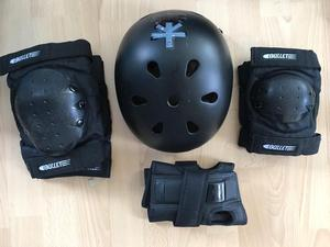 Bullet (brand) Helmet, elbow and knee pads and wrist pads