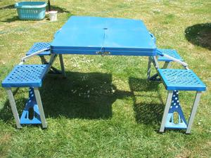 Folding Camping Table & 4 Stool set