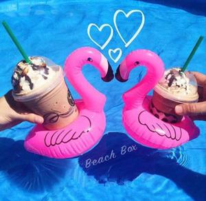 Inflatable Flamingo drink holders