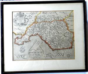 Saxton's map of Glamorgan