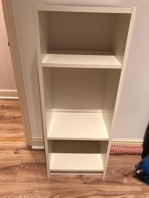 Ikea billy corner bookcase in white posot class for Small white bookcase ikea