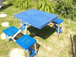 Folding camping/picnic table and seats