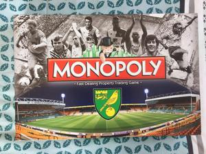 Norwich City Football Club Monopoly - NEW