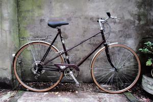 RALEIGH MISTY. 23.5 inch, 60 cm, large, vintage ladies dutch style mixte frame road bike, 5 speed