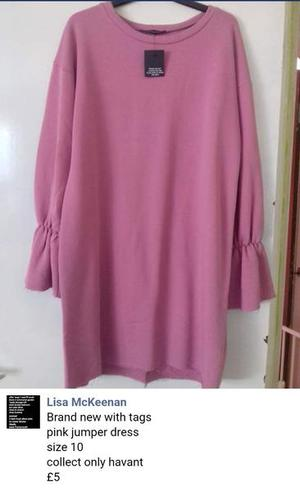 Brand new with tags pink jumper dress