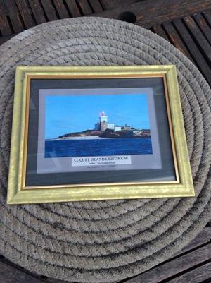 Framed Lighthouse print - Coquet Island Lighthouse - Northumberland