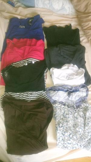 Maternity tops bundle (9 items) (Size 16 ish)