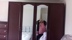 4 door mirrored wardrobe draws available
