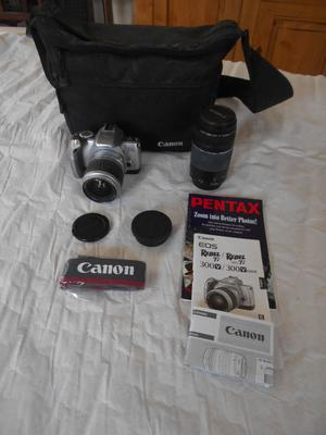 Canon EOS 300 camera and accessories. Little use.