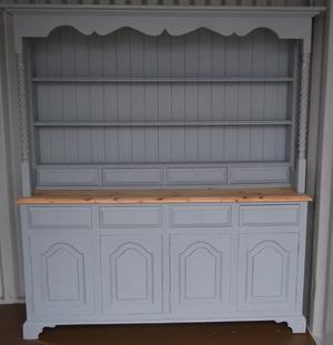 Paris Grey Solid Wood Dininr Room/Kitchen Dresser
