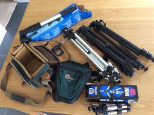 Tripods, monopod and camera bags