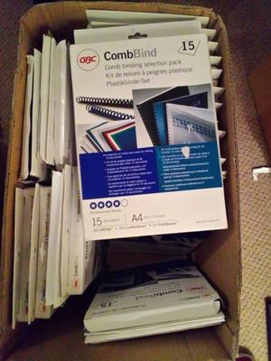 GBC Combbind 15 Document Selection Pack 24 Packs JOB LOT