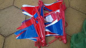 Heavy Duty PVC Outdoor Bunting - Nabco - approx 80 metres in total