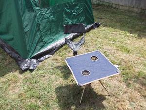 folding camping table & tripod stool