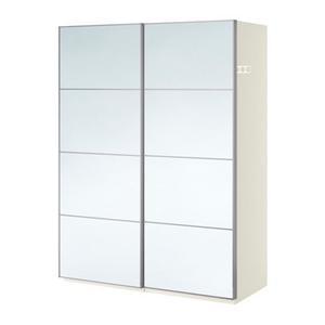 IKEA PAX MIRRORED SLIDING DOORS