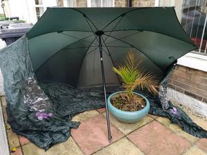 Fishing umbrella, shelter