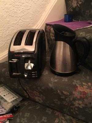 Tefal kettle and toaster set