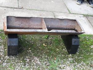 pig trough planter and stand