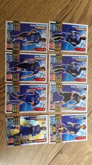 Leicester City SIGNED Match Attax