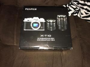 Fujifilm x-t10 with 2 lenses new condition in box