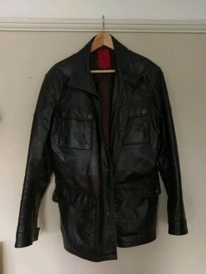 Dark brown leather jacket Medium like new