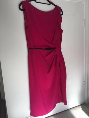 Size 16 bright pink dress