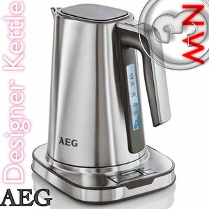 NEW AEG DESIGNER Digital Kettle Temperature Control Stainless Steel HIGH TECH State of the ART
