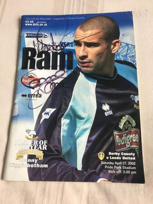 Signed Derby County Programme from Sat 27th April  Derby v Leeds