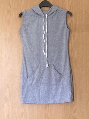 Grey hooded jumper dress £4