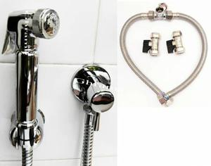 Shattafs Bidet Showers Chrome Italia with Hot & Cold Mixers