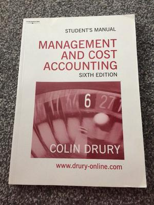 Management and cost accounting sixth edition