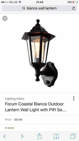 Bianca Wall Lantern (Brand New)