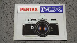 Pentax MX SLR 35mm film camera.