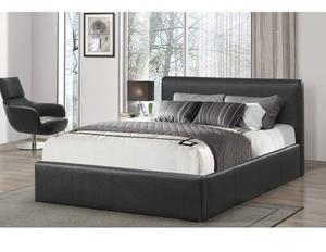 DOUBLE LEATHER BED AND MATTRESS & STORAGE BRAND NEW FAST FREE DELIVERY CALL OR TEXT[]