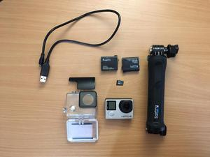 Gopro Hero 4 Silver action camera with extras